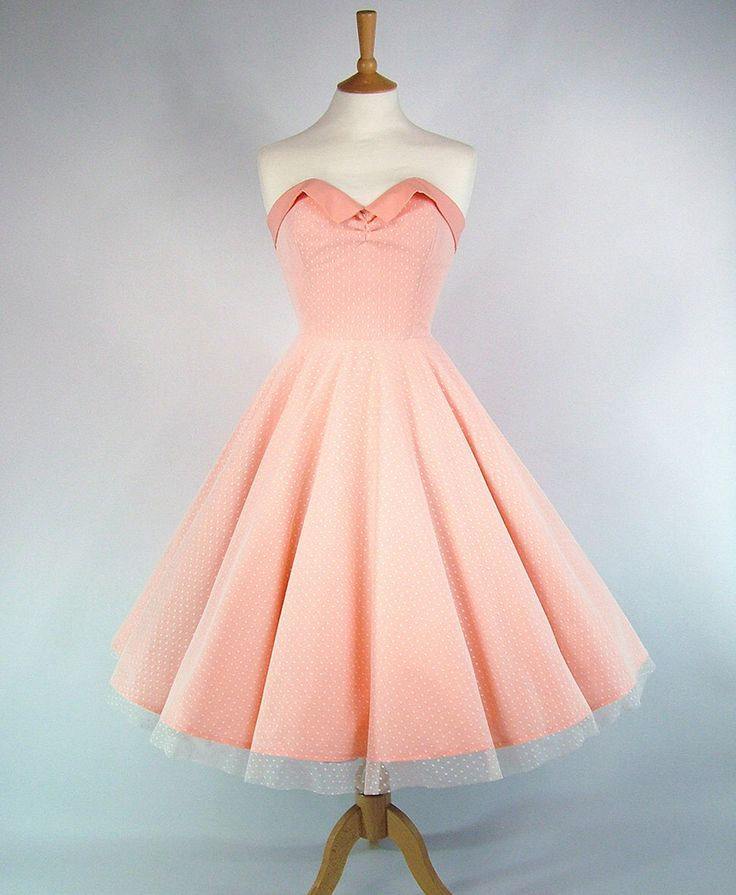 Made To Measure Full Circle Skirt Peach Cotton And Lace Prom Dress - Detachable Straps & Belt by GinAndSinLondon on Etsy https://www.etsy.com/listing/126768754/made-to-measure-full-circle-skirt-peach