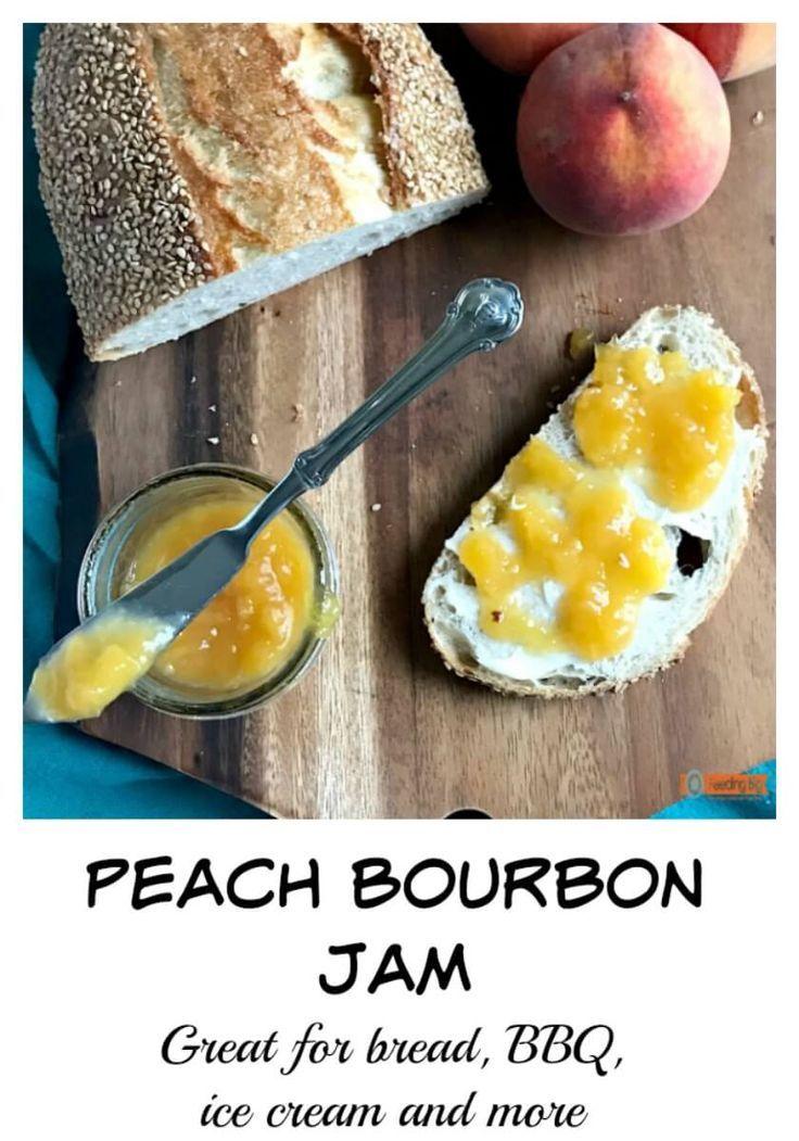 Peach Bourbon Jam Recipe. Easy to make and so good.