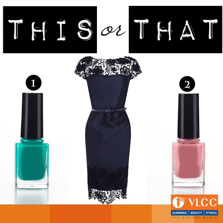 You can never go wrong with a little black dress!  Which nail color would you pair it with?