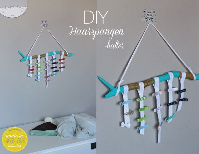 Kindertage   Haarspangen-Aufhängung DIY   http://kindertage.eu