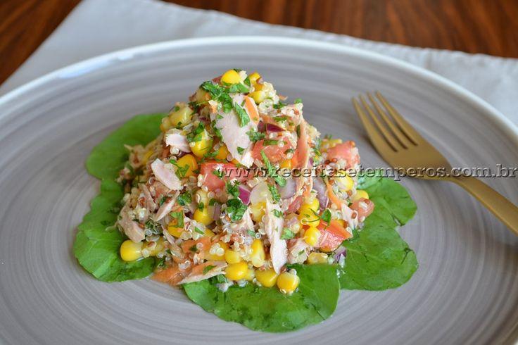 Receita de Salada de quinoa com atum passo-a-passo. Acesse e confira todos os ingredientes e como preparar essa deliciosa receita!
