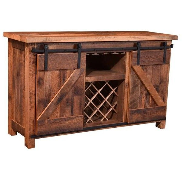 sliding barn door wine cabinet 2 658 liked on polyvore. Black Bedroom Furniture Sets. Home Design Ideas