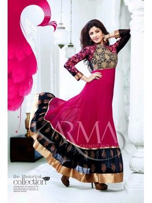 Shilpa shetty Pink And Black Long Anarkali Check our New Bollywood collection, http://20offers.com/Salwar-Kameez/party_and_festival_suits/shilpa_shetty_pink_and_black_long_anarkali#.U0U9t6iSzxA , Available for shipping worldwide,  Buy Bollywood Suits at lowest price in USA, CANADA, AUSTRALIA, NEW ZEALAND, SINGAPORE, MALYASIA ,UK, NETHERLANDS, FRANCE, JERMANY - Indian Clothing Online!