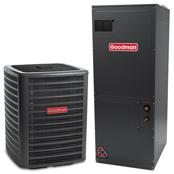 3 Ton Goodman Gsz160421 Up To17 Seer Central Heat Pump System Heat And Cool Househo In 2020 With Images Central Air Conditioners Heat Pump System Central Air Conditioning System