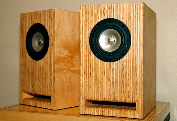 Layered Maple Plywood Speakers Handmade Full by SteeltreeWorks
