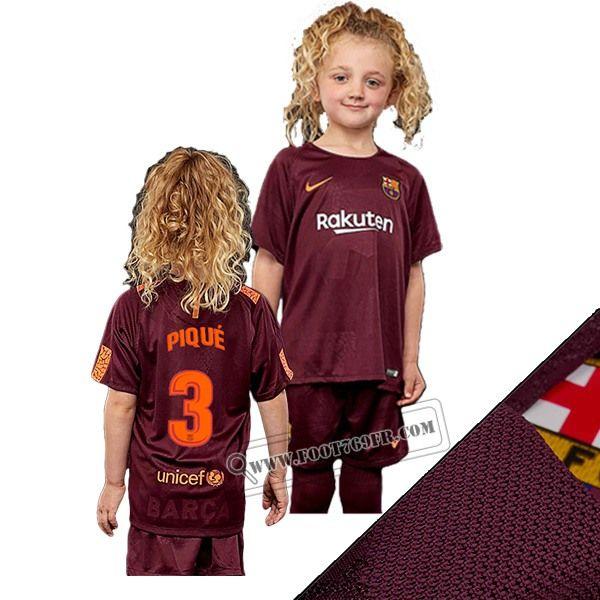 Promotion: Magasins Foot769fr Ensemble Flocage Maillot De Barcelone FC (Pique 3) Enfant Rouge Camouflage 2017-2018 Thailande Nouveau