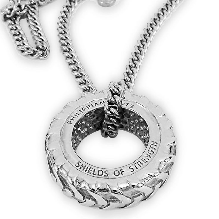 Shields of Strength - ***Brand New*** Mens Stainless Steel Tire Necklace-Phil 4:13, $69.99 (http://www.shieldsofstrength.com/brand-new-mens-stainless-steel-tire-necklace-phil-4-13/)