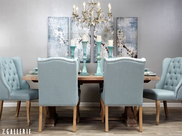 Instantly Create An Effortlessly Elegant Dining Room Using Soft Inviting Hues In Upholstery Art