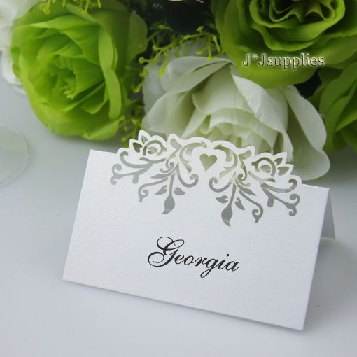 Laser cut PHOENIX Name Place Cards,Table Cards,Wedding Sweets Favour