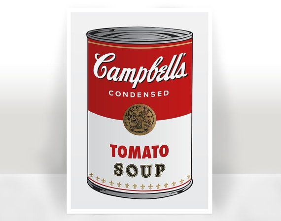 Campbell's Soup Art Print  Poster  Many by PrintableAndAwesome