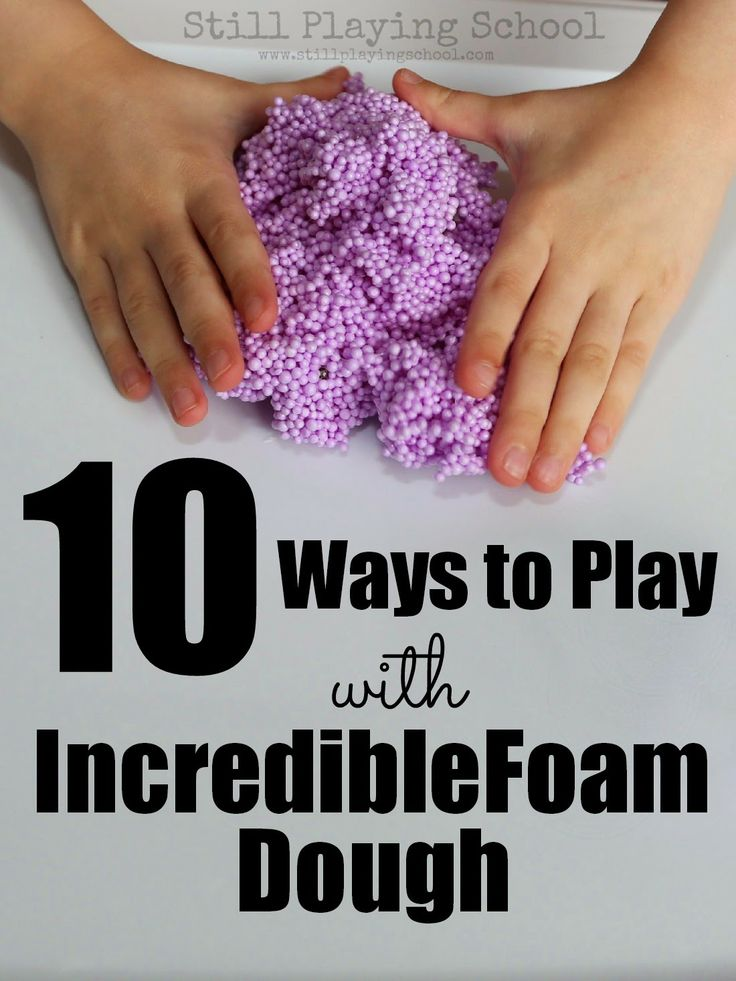 10 Ways to Play with IncredibleFoam Dough.