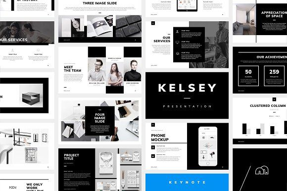 Keynote - Kelsey by bilmaw creative on @creativemarket #powerpoint #keynote #template