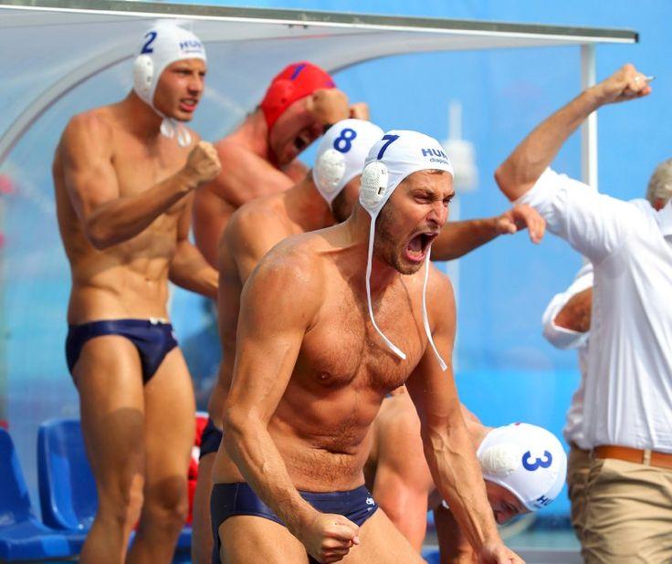 Die Ungarn gehören zu den Medaillenfavoriten im Wasserball. Die Freude über den...