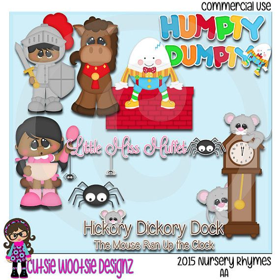 2015 Nursery Rhymes AA African American Clip art Clipart Graphics ...