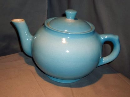 Blue Teapot (1955) by Medalta - Unknown