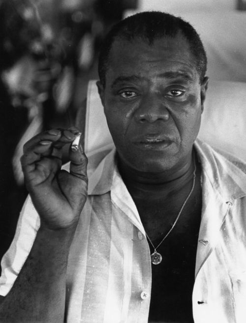 "Herb Snitzer     Louis Armstrong, Tanglewood, New Jersey      1960  ""Making money ain't nothing exciting to me. … You might be able to buy a little better booze than some wino on the corner. But you get sick just like the next cat, and when you die you're just as graveyard dead as he is."" Louis Armstrong, Interview in ""Ebony"" magazine, November 1964"