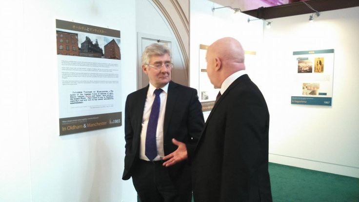 Was great to take some #pictures of #Manchester Mayor and #Police Crime Commissioner Tony Lloyd, who this week was shown around the #GodaiTomoatsu exhibition at the #RoyalExchangeTheatre. The #exhibition marks 150 years since the secret visit to #MCR by #Godai, a #Japanese agent of the Prince of Satsuma, who after visiting #British mills, mines and merchants, returned home and ignited #Japan's own Industrial Revolution.