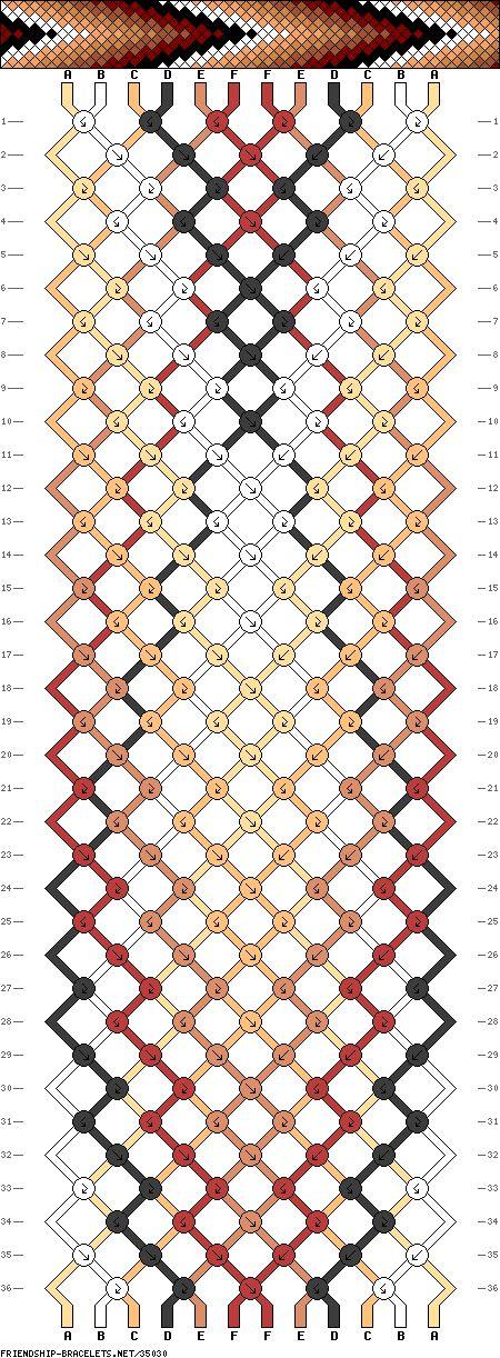 Muster # 35030, Streicher: 12 Zeilen: 36 Farben: 6