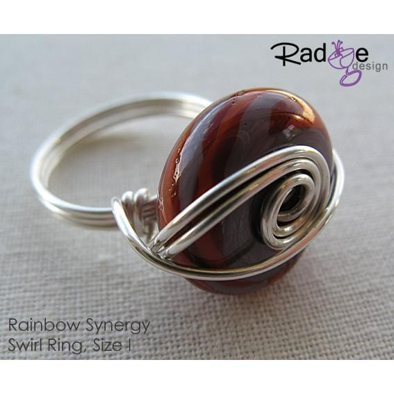 $50 Swirl Rainbow Synergy Ring Silver by radgedesign on Handmade Australia