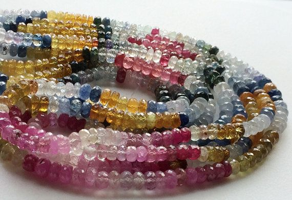 Multi Sapphire Beads Multi Sapphire Faceted by gemsforjewels