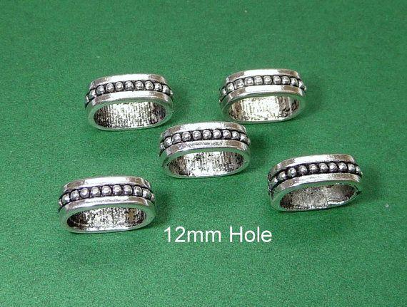 6x12mm hole Tibetan Silver DREADLOCK RINGBeard ring by artstudio88