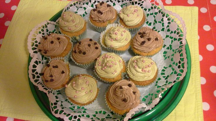 Cupcakes alla crema di nocciola e pistacchio