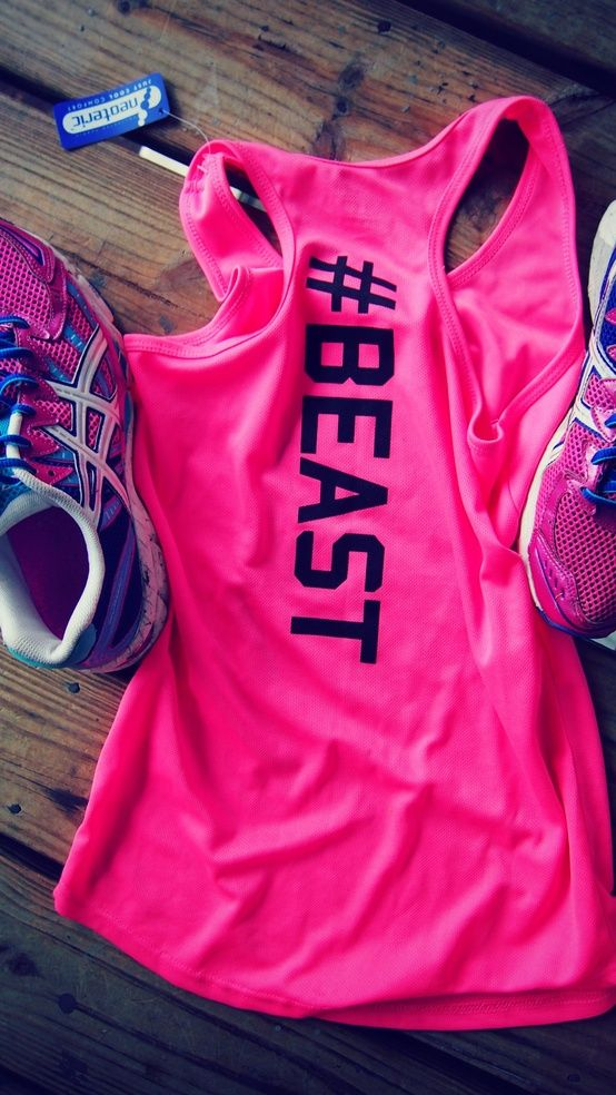 Tank top with #beast down back. I WANT IT!