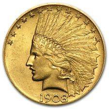$10 Indian Gold Eagle Pre-33 Gold Coin Random Year Almost Uncirculated