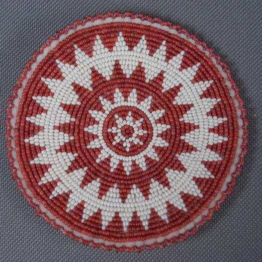Plains beaded rosette