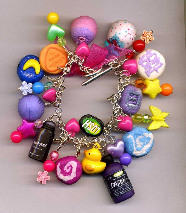 Lush cosmetics inspired charm bracelet by Retro Charmz SO COOL