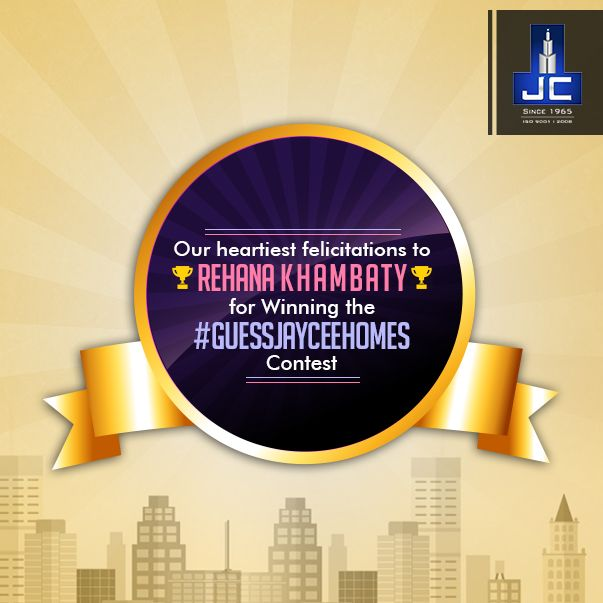 Kudos to Rehana Khambaty for guessing all 4 properties right. You win the Jaycee Homes' ‪#‎GuessJayceeHomes‬ ‪#‎contest‬. Heartiest Congratulations!  Thank you all for the wonderful participation. Stay tuned!