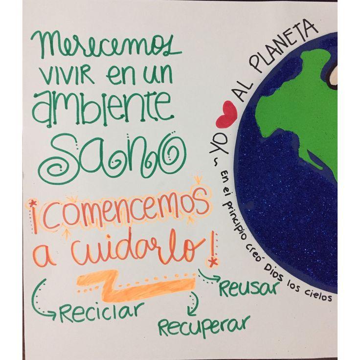 Cartelera: Día de la tierra 🌎♻️💚 •••••••••••••••••••••••••••• #Colombia #Barranquilla #manosquecrean #hechoamano #Artephie #vivetuimaginación
