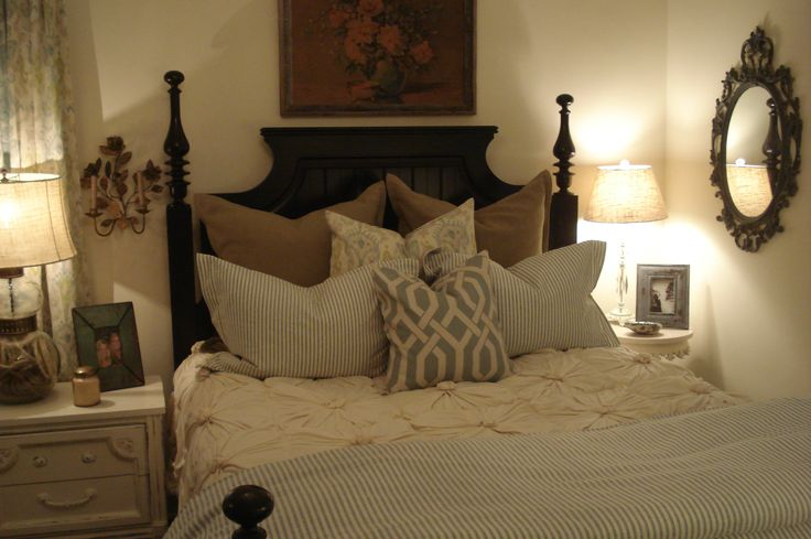 Bedroom classic best beds for your back with white bedding for Pillow back bed frame