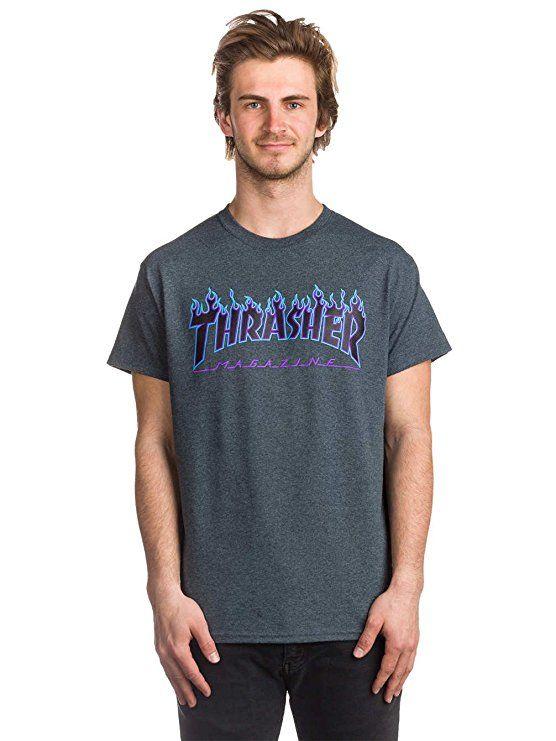 18b159d79 Amazon.com  Thrasher Flame Short Sleeve T-Shirt  Clothing