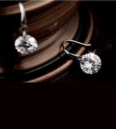 Sterling Silver Swarovski Crystal Drop Earrings - Save 86% only $12