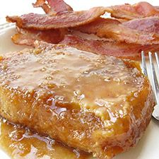 Praline French Toast Recipe Obviously without the bacon! ;-)