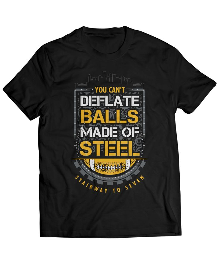 This hilarious shirt shows you're a true Steeler fan that knows how to properly make fun of the Patriots and their deflated balls. Whether you're in Pittsburgh or some other part of Steeler Nation, you'll look great in this stylish shirt.