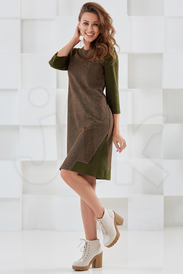 платье экрин/трикотажный жаккард / 80% вискоза, 20% ПЭ / | Повседневные платья