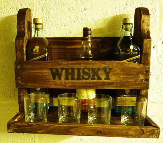 Wood Whisky Bottle Holder Ideas: 14 Best Whiskey Shelf Ideas Images On Pinterest