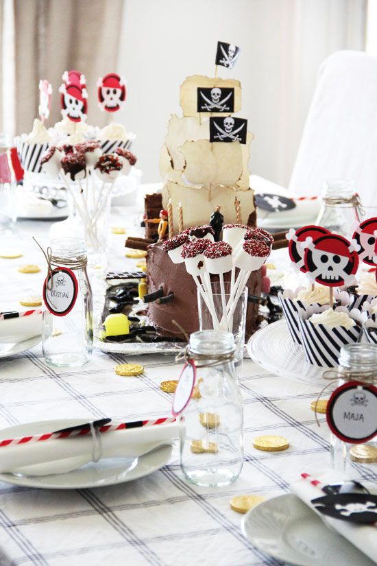 My sons pirate party - his 4th birthday!