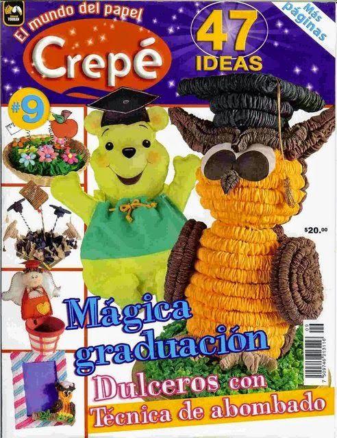 Revistas de manualidades Gratis: Como hacer animales con papel crepe