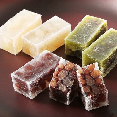 京菓子工房 都 琥珀菓子三種