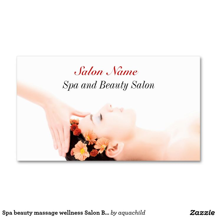 42 best Spa Wellness Massage Yoga customized business cards images ...