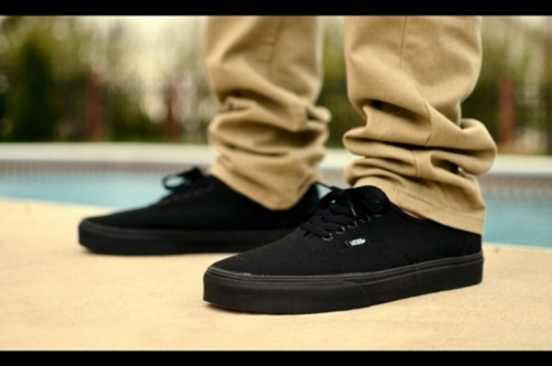 Vans Black And White Authentic On Feet