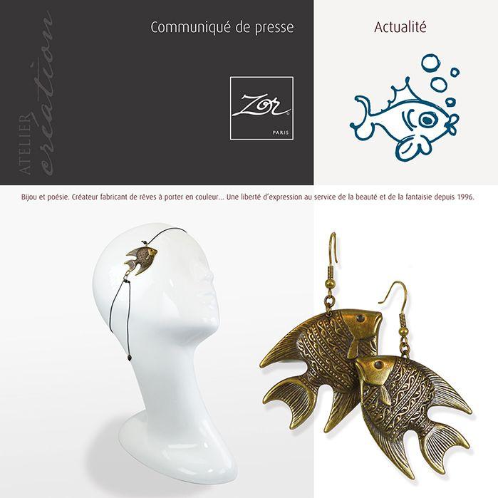 Passion d'avril... Le poisson est un animal à forte signification symbolique et spirituelle. Les Hindous vénèrent la sagesse du poisson vivant dans les eaux profondes, son extraordinaire fécondité incarne la renaissance et évoque pour les chinois, la chance. Les Chrétiens... #bijoupoisson #creation #tendance #boucledoreille #madeinfrance #bijoubronze #bijoudetete #paris #shopping #symbole #animal http://www.bijoux-zor-paris.fr