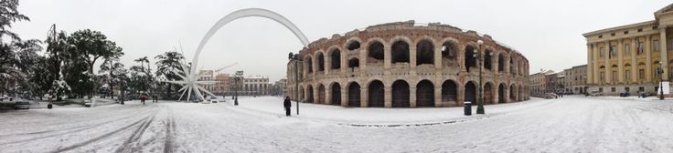 Arena in snow