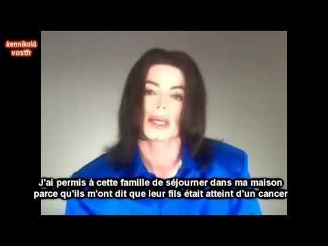 MICHAEL JACKSON déclaration accusation pédophilie (sous titres francais) - YouTube