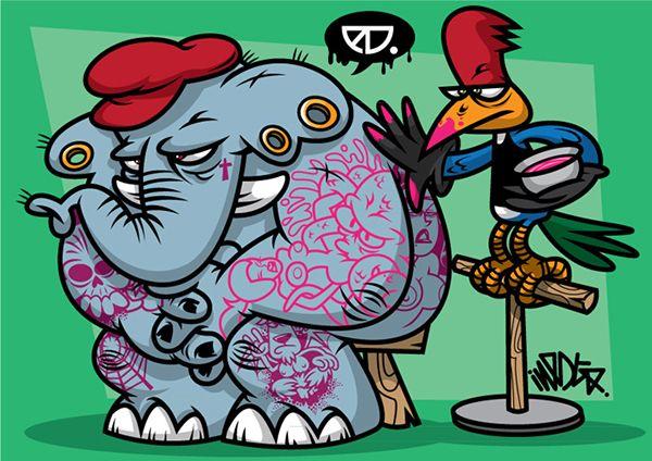 Woodpecker Tatto Shop on Behance