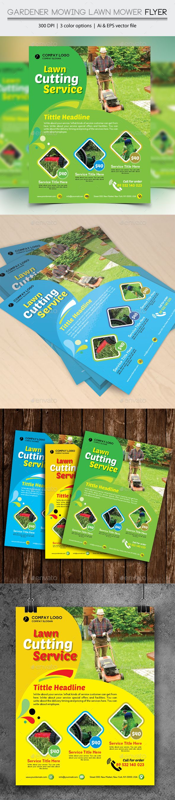 1000 images about service flyer templates gardener mowing lawn mower flyer eps template lawns ad ➝