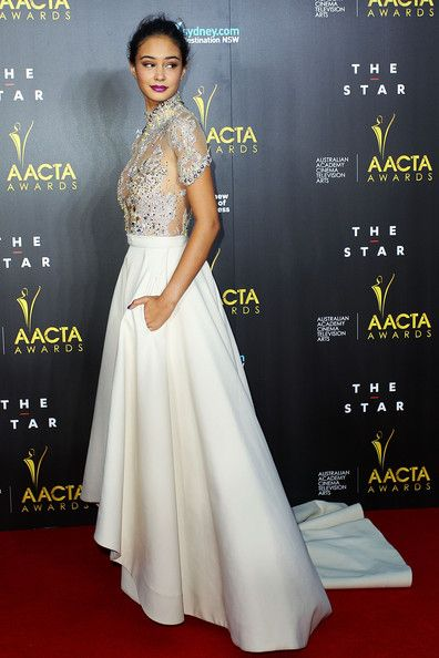 Courtney Eaton arrives at the 3rd Annual AACTA Awards Ceremony at The Star on January 30, 2014 in Sydney, Australia.